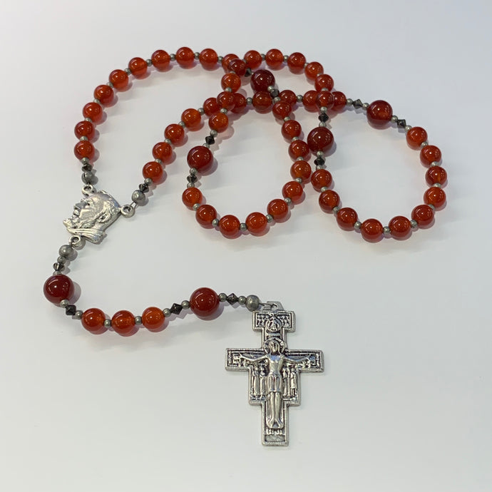 First Communion Carnelian Rosary