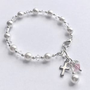 First Communion Gift | First Communion Confirmation Gift Girl | Rosary Bracelet | Willow and Bee