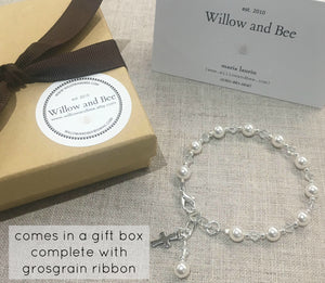 First Communion Rosary Bracelet | First Communion Gift Girl | Confirmation Bracelet | Willow and Bee