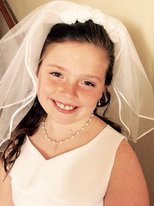 First Communion Necklace | First Communion Girl Gift | Wedding Jewelry | Confirmation Jewelry