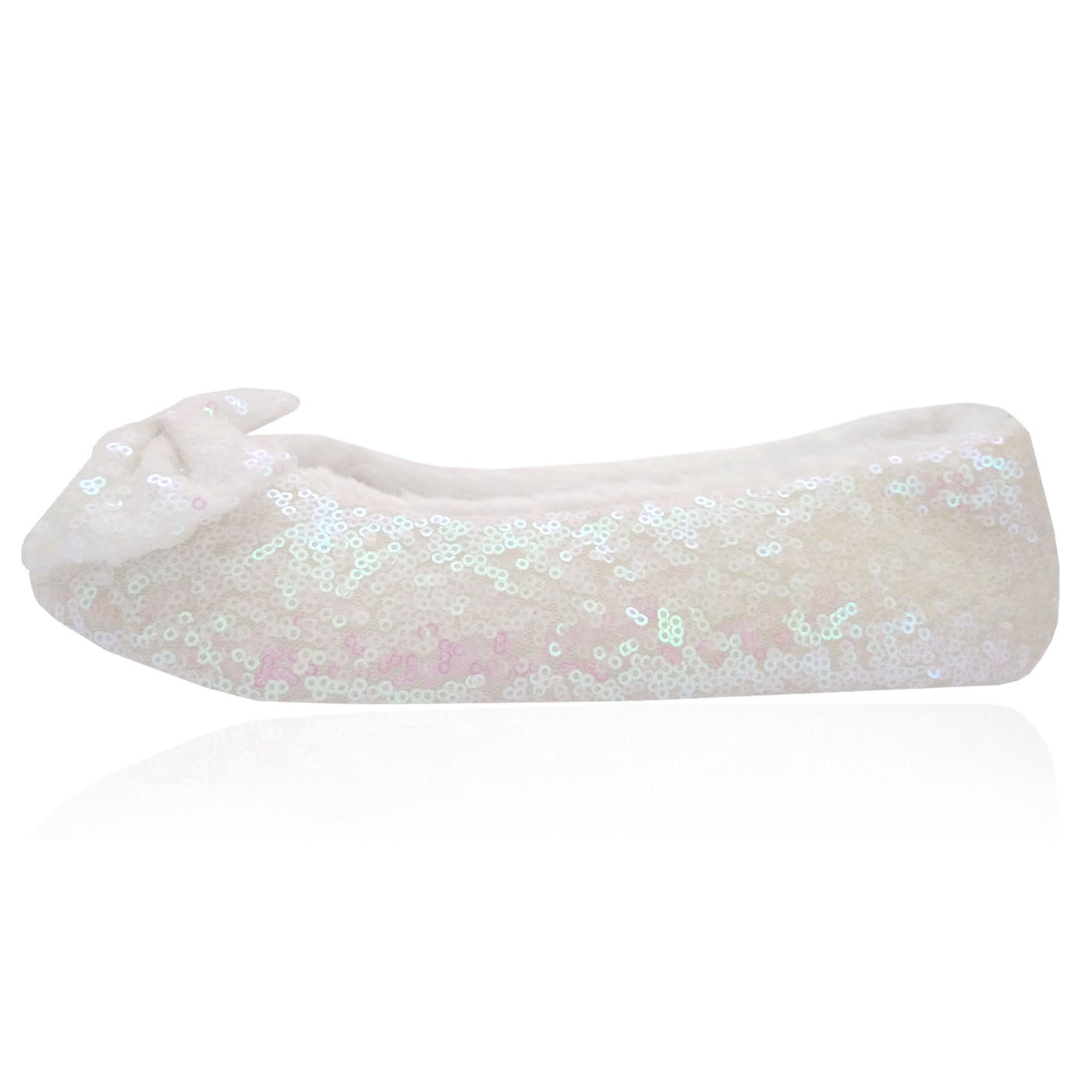 10 Pairs of luxury sequin slippers in a Party box