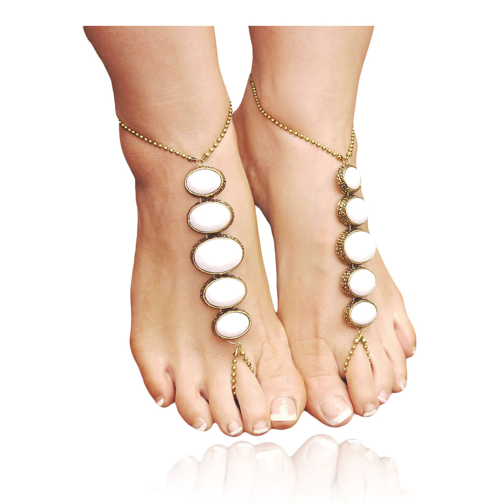 Contemporary barefoot sandal - White