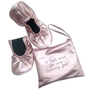 Fold up ballerina - Rose gold