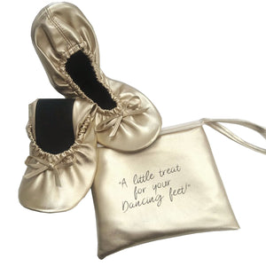 Fold up ballerina - Gold