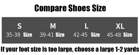 Ankle support brace - sizing chart