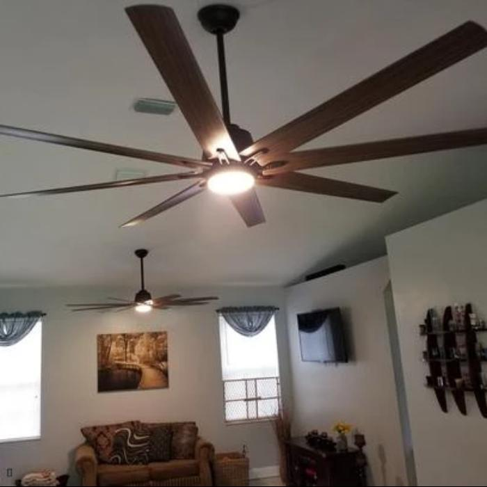 Home 72in LED Indoor//Outdoor Espresso Bronze Ceiling Fan with Remote Control