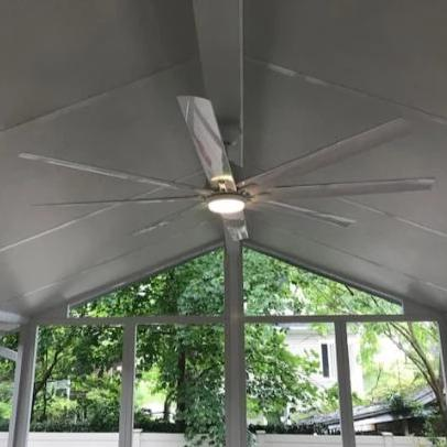 Kensgrove 72 In Led Indoor Outdoor White Ceiling Fan With