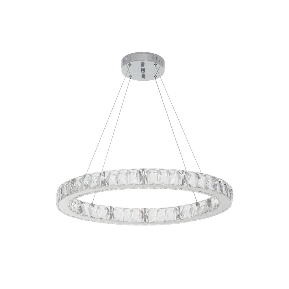 24 In Chrome Integrated Led Pendant With Clear Crystals Home Decorators Collection 20748 001 Home Decorators Outlet