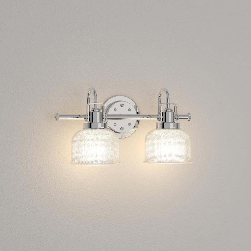 Home Decorators Outlet Vanity Lighting 64 Off Progress Lighting Archie Collection 17 In 2 Light Chrome Bathroom Vanity Light With Glass Shades P2991 15