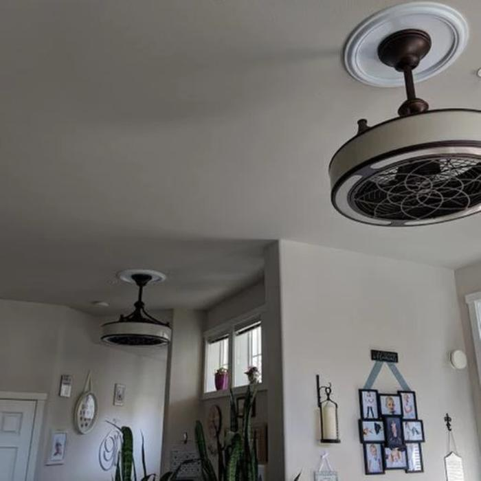 Anderson 22 In Led Indoor Outdoor Bronze Ceiling Fan With