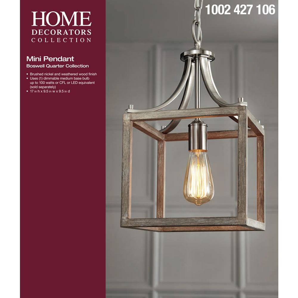 Home Decorators Collection Boswell Quarter 9 44 In 1 Light Brushed Home Decorators Outlet