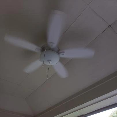 North Pond 52 In Led Outdoor Matte White Ceiling Fan With
