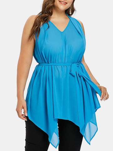 2019 Asymmetrical tunic tops plus size For Women