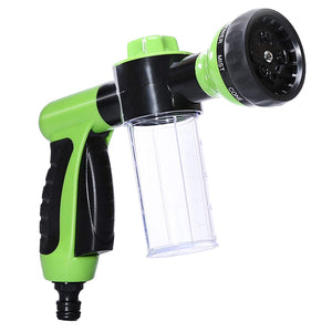 Adjustable Hose Spray Nozzle High Pressure 8 Patterns With Soap Dispenser Suitable for Car Washing, Garden Watering, Pets Showering