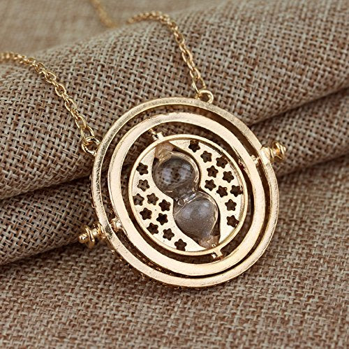 Harry Potter Necklace Set Time Turner Deathly Hallows Golden Snitch for Harry Potter Fans Gifts Collection Magical Cosplay Costume Jewelry Gift
