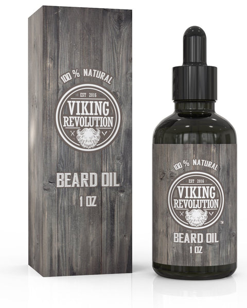 Beard Oil Conditioner- All Natural Unscented Organic Argan & Jojoba Oils - Promotes Beard Growth - Softens & Strengthens Beards and Mustaches for Men (Unscented, 1 Pack)
