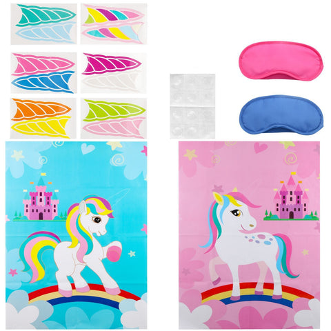 Unicorn Party Game Supplies Birthday Party Decorations Party Favor Games for Kids Set of 2