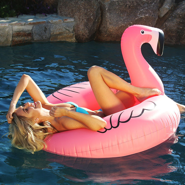Flamingo PartyTube Inflatable Raft, Float In Style (for Adults and Kids)