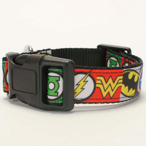 "NEW 1""25mm  avenger pattern printed Dog Collar,1 inch top Dog Collar 2 size avaiable"
