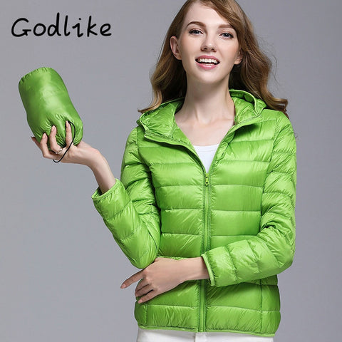 2018 pure color ladies trendy winter coat/fashionable casual down jacket/Pure color, lightweight down jacket