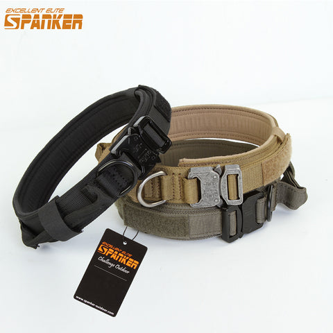"EXCELLENT ELITE SPANKER 1.5"" Pet Dog Collar Outdoor Training Adjustable Comfortable Necklace Quick Released Metal Buckle Collar"