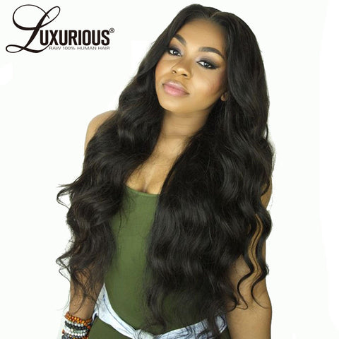 Body Wave Lace Front Human Hair Wigs For Women Pre Plucked Hairline With Baby Hair 8-26Inch Brazilian Remy Hair Bleached Knots