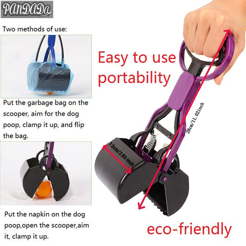 Products For Dogs Poop Pick Up Scooper Wipe Long Handles Poop Dog Pooper Cleaning Bags Poop Tools 20%
