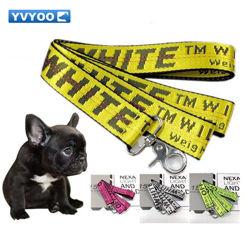 Fashion Letter Pet Lead Leashes for Dogs Cats Nylon Walk Dog Leash Outdoor Security Training Dog Harness 5 colors 160CM