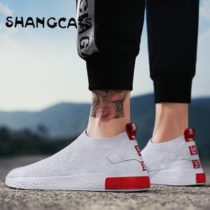 Thin Shoes For Autumn White Shoes Men Sneakers Teen Shoes Without Lace Trend 2018 New Feel Socks Shoes tenis masculino chaussure