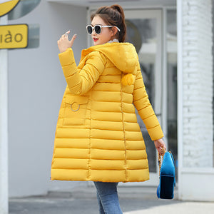 2018 Winter Jacket New Fashion Women Down jacket Slim Large size Hooded Jacket Students Women Thick Warm Cotton Outwear