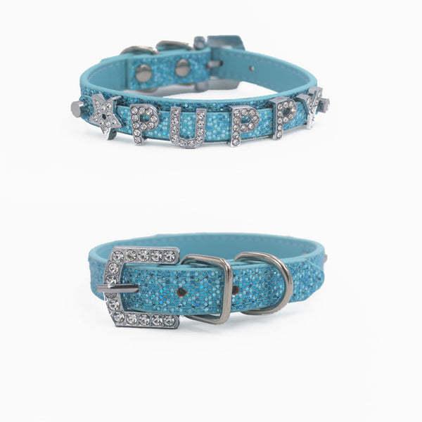 Bling Personalized Pet Dog Collar Rhinestone Customized Free Name Diamond  Bucklet Puppy Collars for Small  Medium dogs