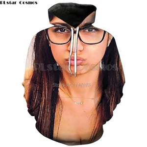 YX GIRL  3d Print Sexy Mia Hoodie for Women/Men Mia Khalifa Printed Hoodies Sweatshirts With Pocket Hat Autumn Pullovers