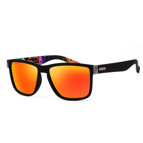 Men Women Driving Coating Square Frame Fishing Driving Eyewear