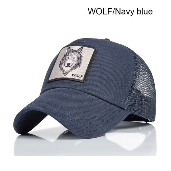 Evrfelan New Brand Animal Caps Women Breathable Mesh Baseball Cap Men's Dad Hat Patchwork Snapback Caps Summer bone Dropshipping