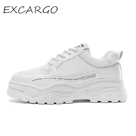 Shoes Mens White Sneakers Platform 2019