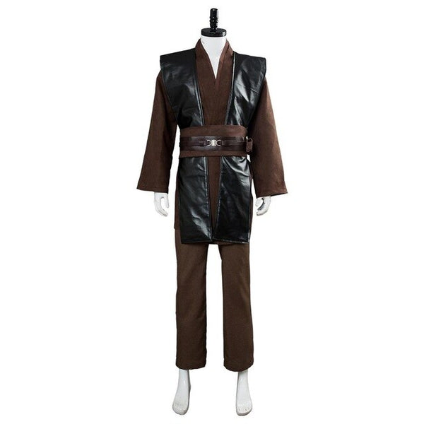 Adult Men Star Wars Anakin Skywalker Cosplay Costumes Jedi Halloween Carnival Costumes Black Uniform No Cloak