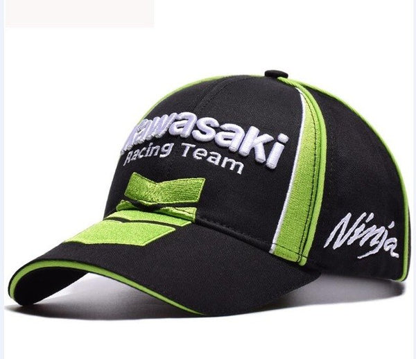 2019 High Quality Kawasaki Racing Baseball Cap Motorcycle Embroidery Cap Hip Hop Caps Dad hat Bone Casquette