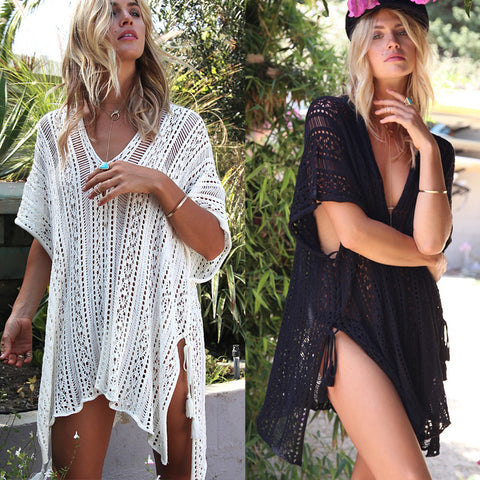 2019 Beach Dress Bathing Suit Cover Ups for Woman Crochet Knitted Swimwear  Beachwear Summer Swimsuit Cover Up Sexy Sarong