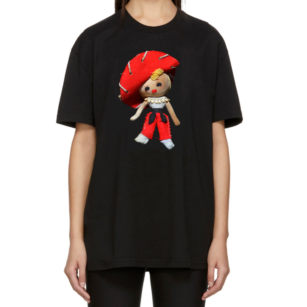 Chica Espanola Doll Adult T-Shirt Top Black