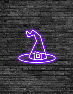 Witch Hat Neon Sign