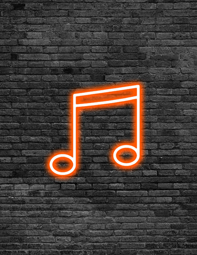 Beam Music Note Neon Sign