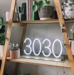 Custom Postcode Neon Sign