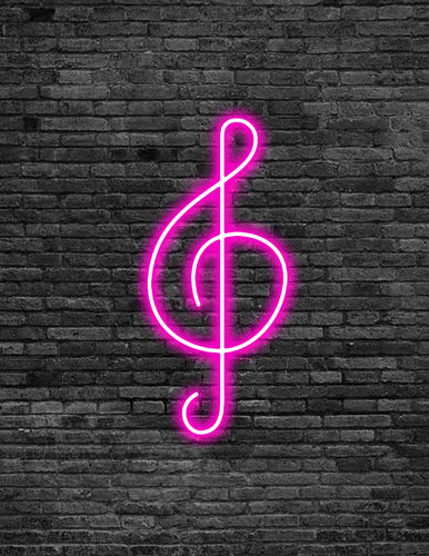 Treble Clef Neon Sign