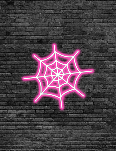 Spider Web Neon Sign