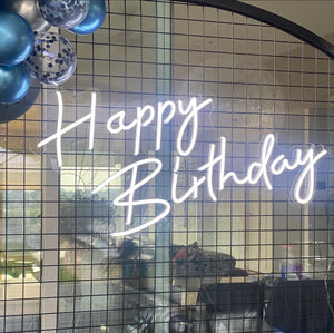 'Happy Birthday' Neon Sign