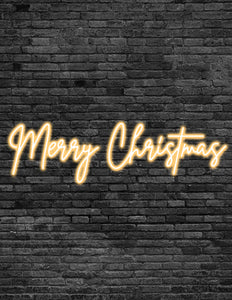 'Merry Christmas' Neon Signs
