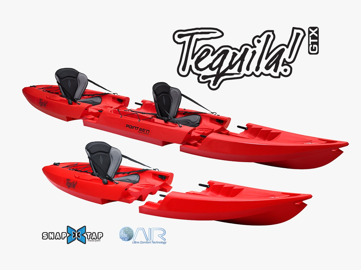 e1c80be591 GTX Solo/Tandem Sit-On-Top Modular Kayak - Ships from USA – Point 65 Kayaks  Sweden Global