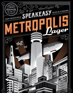 SPEAKEASY Metropolis Poster - The Cult Beer Store from Hashigo Zake