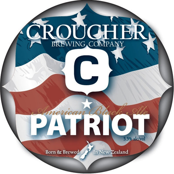 Croucher Patriot Black Ale - Dated