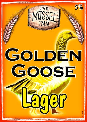 MUSSEL INN Golden Goose Lager - The Cult Beer Store from Hashigo Zake